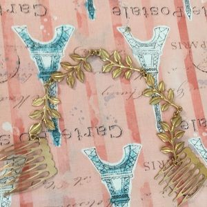 Grecian hair jewelry with combs ( peace wreath )